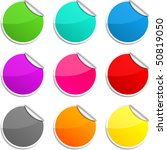 set of round glossy stickers. | Shutterstock .eps vector #50819050