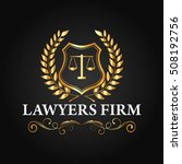 luxury lawyer firm and lawyer... | Shutterstock .eps vector #508192756