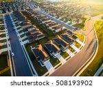 amazing golden sunrays aerial... | Shutterstock . vector #508193902