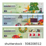 vector horizontal banners with... | Shutterstock .eps vector #508208512