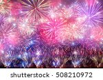 colorful holiday fireworks on... | Shutterstock . vector #508210972