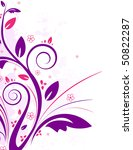 floral background | Shutterstock .eps vector #50822287