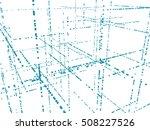 vector 3d structure. technology ... | Shutterstock .eps vector #508227526