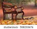 squirl under a bench in an... | Shutterstock . vector #508233676