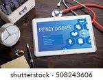 kidney disease on screen tablet