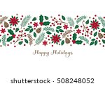 holiday foliage   greeting card ... | Shutterstock .eps vector #508248052