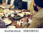 business people dining together ... | Shutterstock . vector #508248532