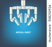medical robot icon vector | Shutterstock .eps vector #508250926