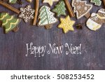 happy new year card | Shutterstock . vector #508253452
