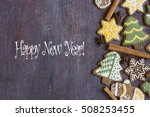 happy new year card | Shutterstock . vector #508253455