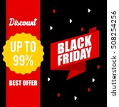 black friday discount sale... | Shutterstock .eps vector #508254256