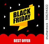 black friday discount sale... | Shutterstock .eps vector #508254322