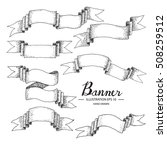 vintage banner vector element...   Shutterstock .eps vector #508259512