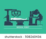 medical robot icon vector | Shutterstock .eps vector #508260436