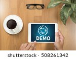 demo  demo preview  ideal  ... | Shutterstock . vector #508261342