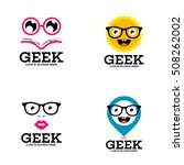 geek  nerd  smart logo design... | Shutterstock .eps vector #508262002