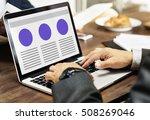 web design template copy space... | Shutterstock . vector #508269046