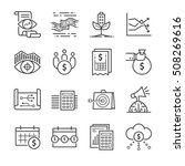business finance line icons.... | Shutterstock .eps vector #508269616