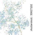 blue flower blossom on white | Shutterstock . vector #50827102