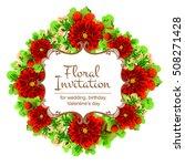 vintage delicate invitation...   Shutterstock .eps vector #508271428