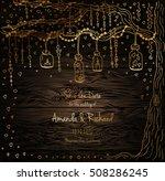 unique vector wedding cards... | Shutterstock .eps vector #508286245