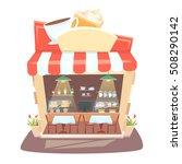 cafe shop interior. street... | Shutterstock . vector #508290142
