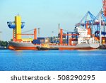 tugboat assisting bulk cargo... | Shutterstock . vector #508290295