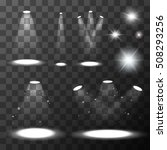 set of different light sources. ... | Shutterstock .eps vector #508293256