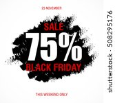 black friday sale inscription... | Shutterstock .eps vector #508295176