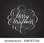 merry christmas lettering with... | Shutterstock .eps vector #508297156