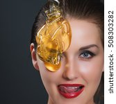 concept sugaring epilation skin ... | Shutterstock . vector #508303282