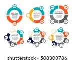 vector set of infographics.... | Shutterstock .eps vector #508303786