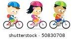 kids riding bikes   Shutterstock .eps vector #50830708