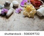 spa and aromatherapy set with... | Shutterstock . vector #508309732