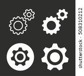 settings vector icon. white... | Shutterstock .eps vector #508310212