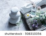 bottles with organic essential... | Shutterstock . vector #508310356