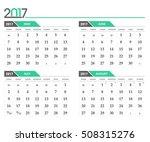 vector calendar 2017. in 4... | Shutterstock .eps vector #508315276