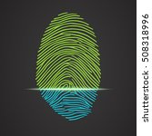 electronic fingerprint scanner... | Shutterstock .eps vector #508318996
