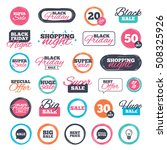 sale icons. special offer... | Shutterstock .eps vector #508325926