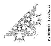 vintage baroque corner scroll...   Shutterstock .eps vector #508331728