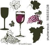 wine and grape set. winemaking... | Shutterstock .eps vector #508333138