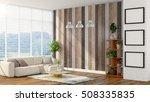 modern bright interior . 3d... | Shutterstock . vector #508335835