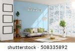 modern bright interior . 3d... | Shutterstock . vector #508335892