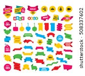 group of people and share icons.... | Shutterstock .eps vector #508337602