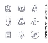 science line icons isolated on... | Shutterstock .eps vector #508341616