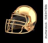 golden american football helmet ... | Shutterstock . vector #508347886