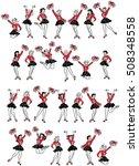 retro comic art cheerleaders... | Shutterstock .eps vector #508348558