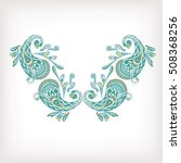 neck line embroidery designs... | Shutterstock .eps vector #508368256