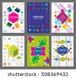abstract geometric vector... | Shutterstock .eps vector #508369432