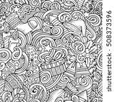 cartoon cute doodles new year... | Shutterstock .eps vector #508373596